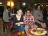 Current Fellows Yash Gharat and Elise Barry at dinner in Ethiopia