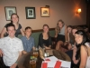 Group photo at 2014 PiAf alumni happy hour in NYC