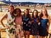 2015-16 Maru-a-Pula Fellows with 2013-14 alumna Danielle Boyda at a friend's wedding in Johannesburg