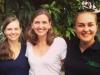 Liz Braden with Grace Perkins and Emily Bensen (Kiki Ochieng cropped out)