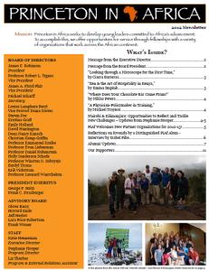 PiAf 2012 Newsletter