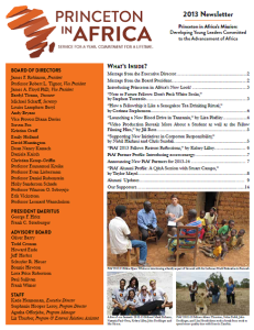 PiAf 2013 Newsletter