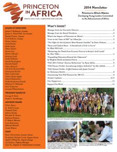 PiAf 2014 Newsletter
