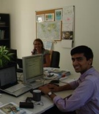 Abhit at his desk in his WFP office in Dakar.