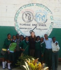 Jill with some of her students from the Kucetekela Foundation.