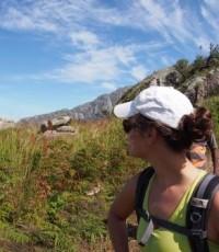 Kate hiking on Mount Mulanje in southern Malawi
