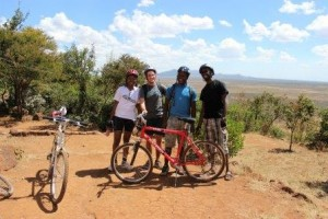 John and his friends after a bike ride through the Ngong Hills, just outside of Nairobi.