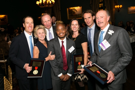 Tierney Family and Fred Swaniker at 2014 Gala