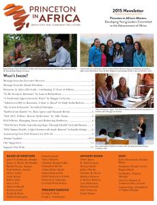 PiAf 2015 Newsletter